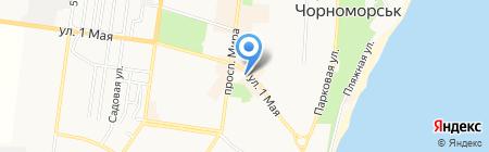 Гранат на карте Ильичёвска