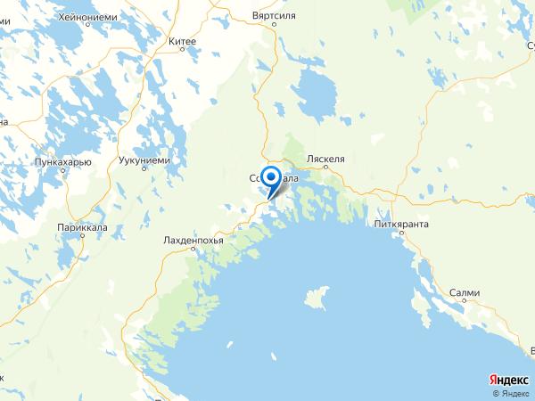 посёлок Вуорио на карте