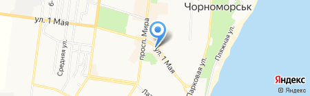 Купава на карте Ильичёвска