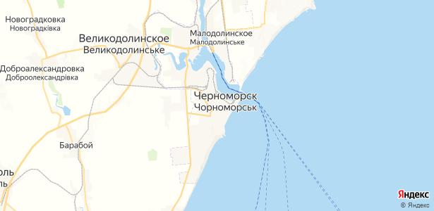 Черноморск на карте