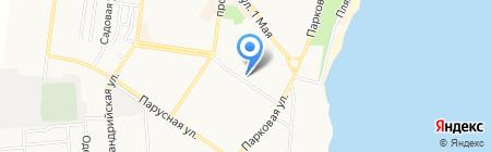 Гардиния на карте Ильичёвска