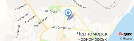 Атлас на карте Ильичёвска