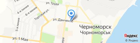 Нотариус Сидоренко В.Н. на карте Ильичёвска