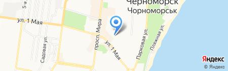 Детский сад-ясли №10 на карте Ильичёвска