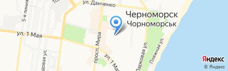 Лингвамир на карте Ильичёвска