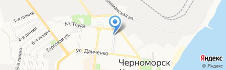 Юнга на карте Ильичёвска