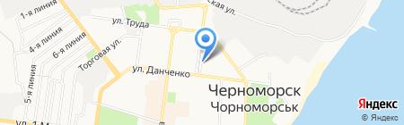 КБ Інвестбанк на карте Ильичёвска