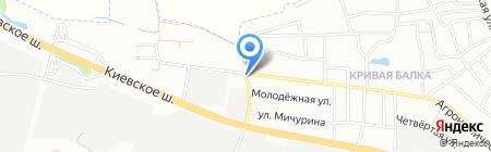 Березка на карте Одессы
