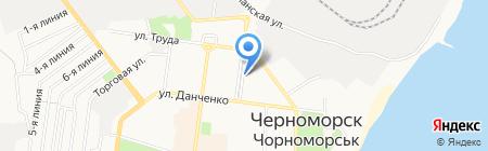 Интерагент на карте Ильичёвска