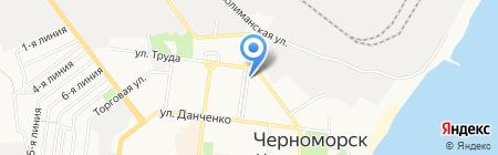 Практик на карте Ильичёвска