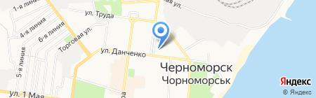 География мебели на карте Ильичёвска