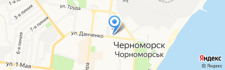 ТАС ЧАО на карте Ильичёвска