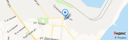 Морской капкан на карте Ильичёвска