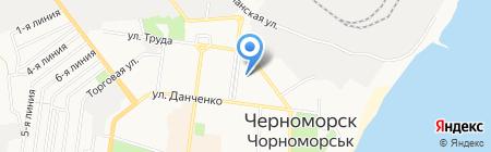 Профсоюз работников морского транспорта на карте Ильичёвска