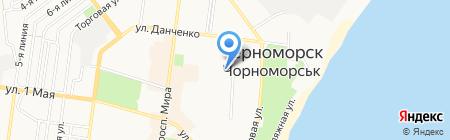 Детский сад-ясли №8 на карте Ильичёвска