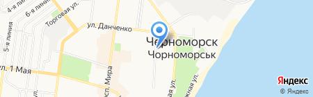 Маячок на карте Ильичёвска