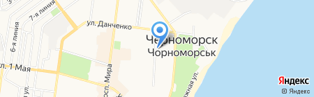 Маска на карте Ильичёвска