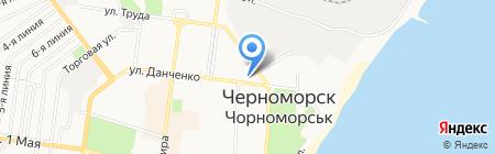 Остров кофе на карте Ильичёвска