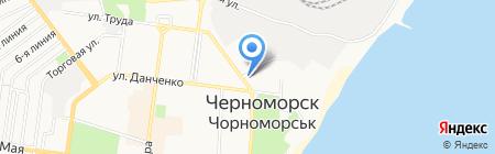 Трейс шиппинг на карте Ильичёвска