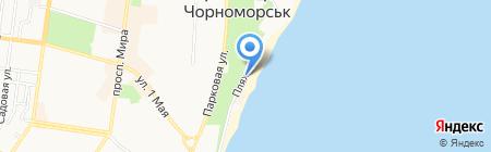 Черная каракатица на карте Ильичёвска