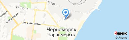 Астрателком на карте Ильичёвска