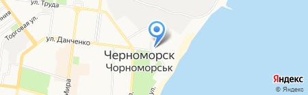 Элатель на карте Ильичёвска