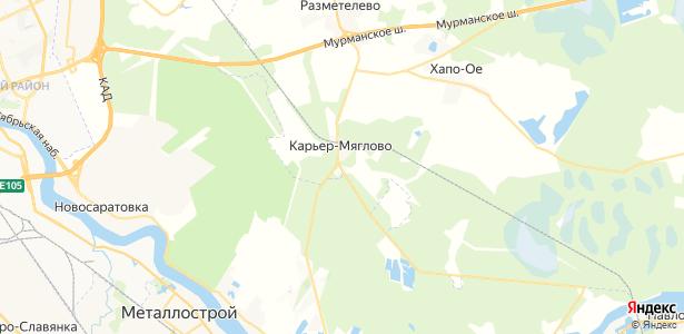 Карьер-Мяглово на карте