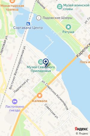 АВТОШКОЛА ИОЛАНТА на карте Сортавалы