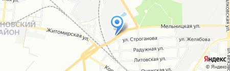 Интерпап на карте Одессы