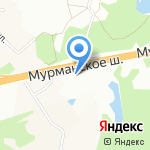 Тиккурила на карте Санкт-Петербурга