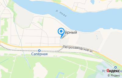 Местоположение на карте пункта техосмотра по адресу г Санкт-Петербург, п Саперный, ул Дорожная, д 13 литер а