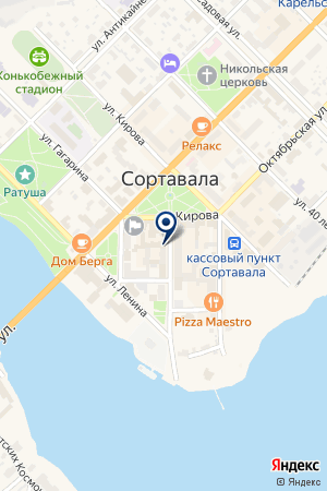 АСИДА на карте Сортавалы