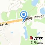 Разметелево на карте Санкт-Петербурга