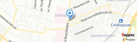На углу на карте Одессы