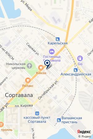 БУХГАЛТЕРСКАЯ ФИРМА МЭМ на карте Сортавалы