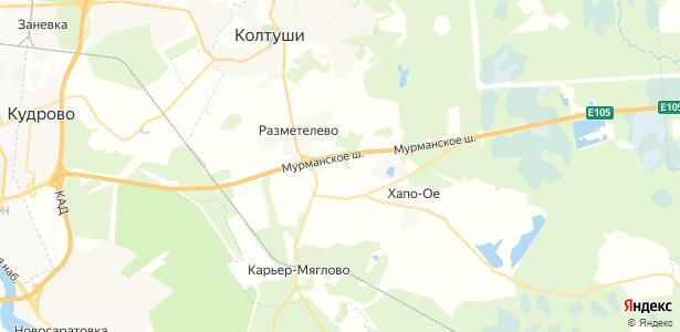 Разметелево на карте