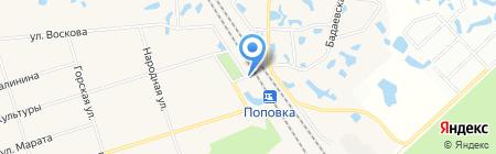 Продуктовый магазин на Вокзальной (Тосненский район) на карте Феклистово