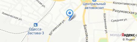 Украинское ядерное общество на карте Одессы