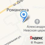 Романовская средняя общеобразовательная школа на карте Санкт-Петербурга