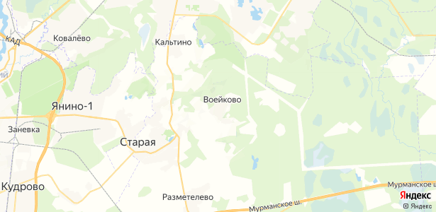 Воейково на карте