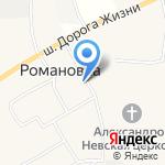 Романкова на карте Санкт-Петербурга