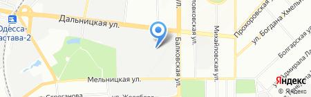 Югтрансэкспедиция на карте Одессы