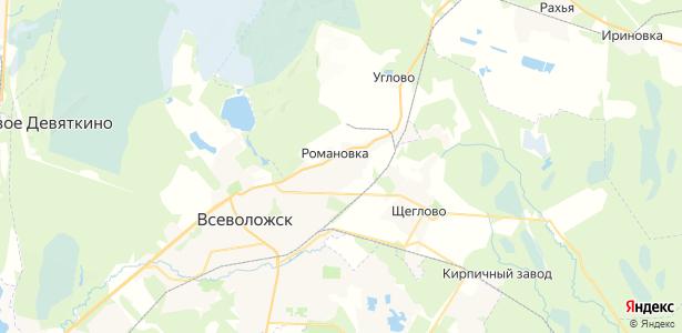 Романовка на карте