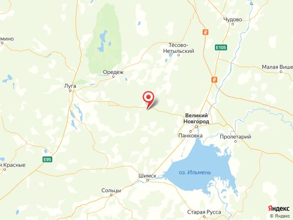 деревня Марино на карте