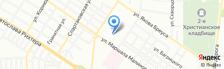 Аквамаркет на карте Одессы