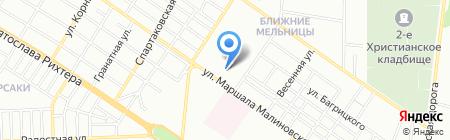 Теплолайн на карте Одессы