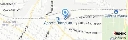 Краян-бартер на карте Одессы
