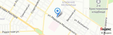 Саган на карте Одессы