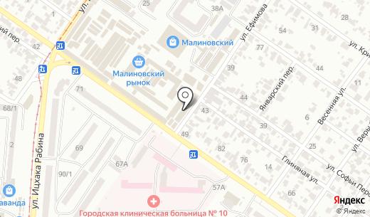 Саган. Схема проезда в Одессе