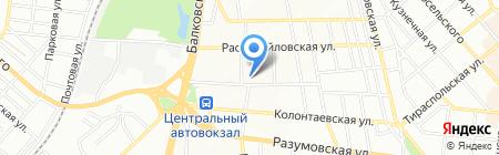 Гардена на карте Одессы